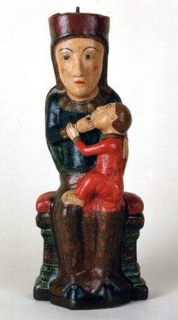 Mare de Dèu del Rebollet. Fusta policromada. Convent del Rebollet. Oliva.